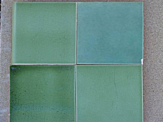 grüne Bleiglasur